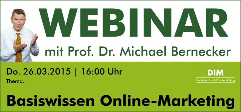 "DIM Newsletter– Kostenloses Webinar ""Basiswissen Online Marketing"""